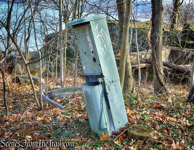 abandoned emergency call box - Long Path