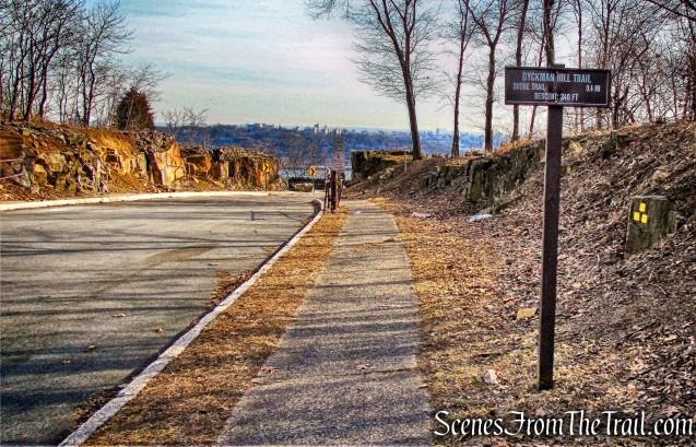 Start of Dyckman Hill Trail