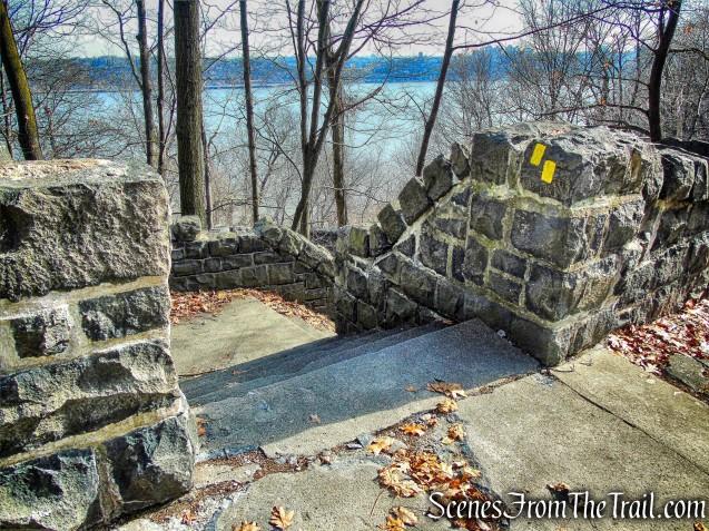 stone steps - Dyckman Hill Trail