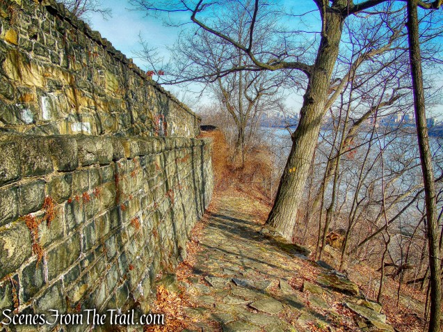 stone-paved switchbacks - Dyckman Hill Trail