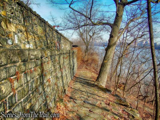 stone-paved switchbacks - Dyckman Hill Trail