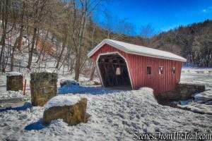 covered bridge - Kent Falls State Park