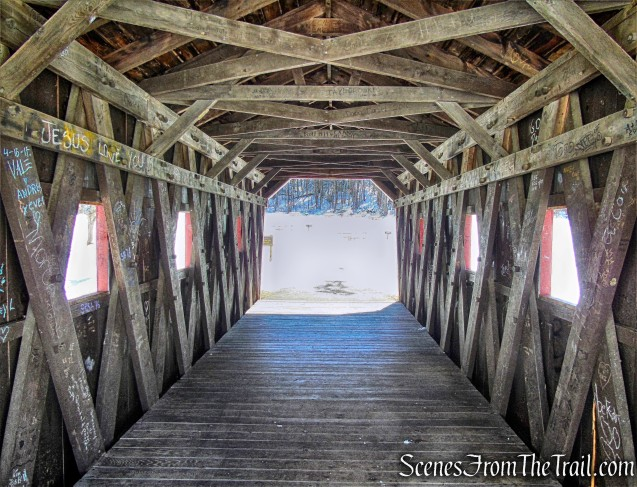 covered bridge - Kent Falls State Park
