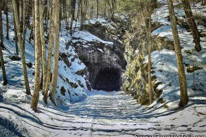 railroad tunnel - Pinney Loop Trail