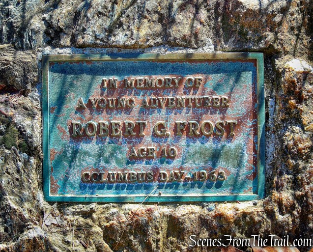 plaque - Steep Rock summit