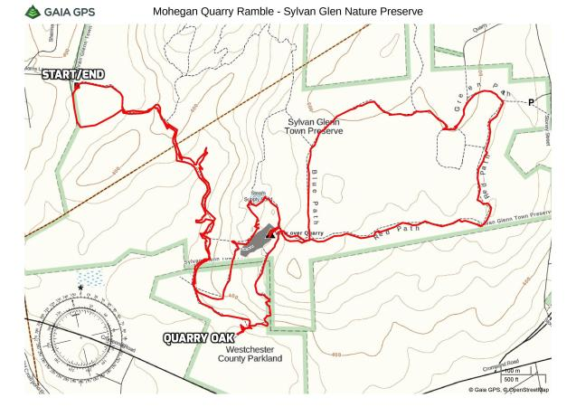 Mohegan Quarry Ramble - Sylvan Glen Park Preserve
