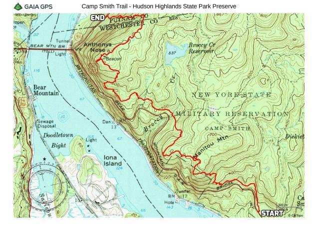 Camp Smith Trail - Hudson Highlands State Park Preserve