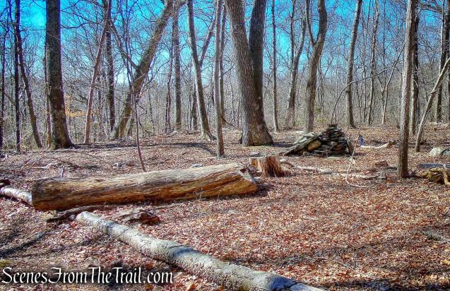 stealth campsite - Gillette Castle State Park