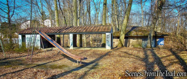 abandoned playground and shelter