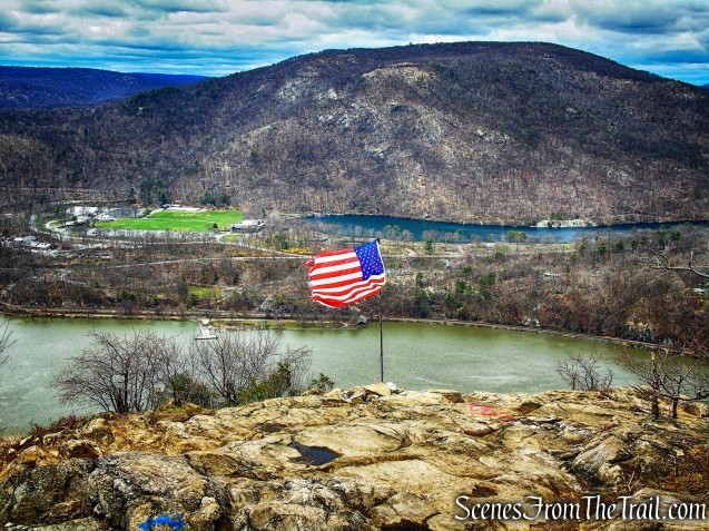 Hudson River, Bear Mountain and Hessian Lake from Anthony's Nose