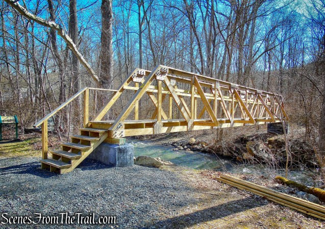 wood-truss footbridge