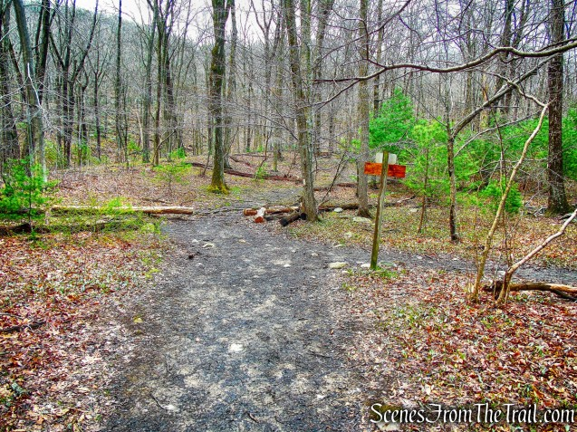 intersection with the Appalachian Trail