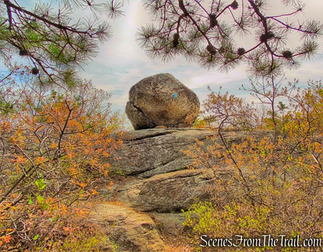 balanced rock - Hewitt-Butler Trail
