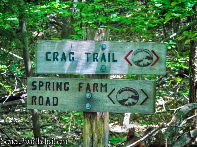 turn left on Crag Trail
