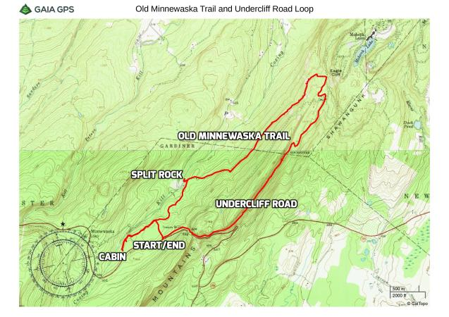 Old Minnewaska Trail and Undercliff Road Loop – Mohonk Preserve on