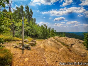 continue straight on Appalachian Trail