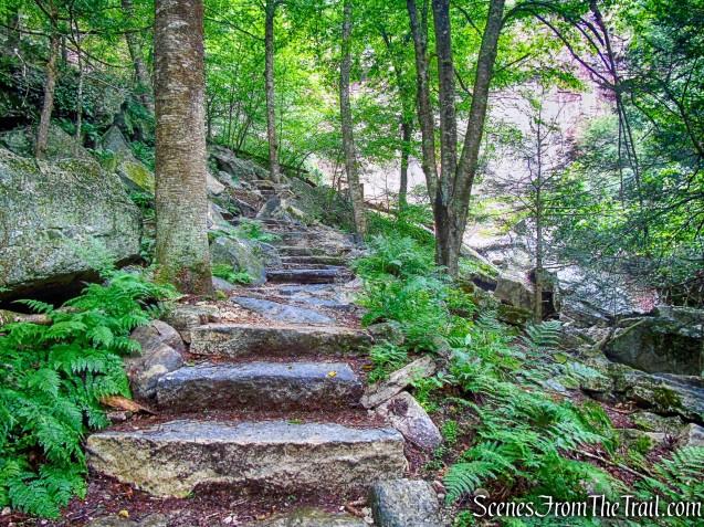 stone steps - Stony Kill Falls Trail