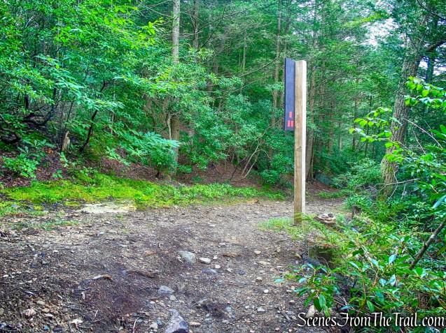 terminus of Stony Kill Falls Trail