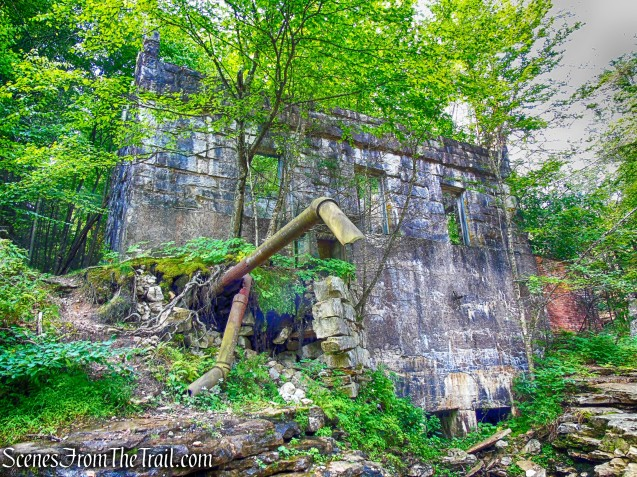 Hydroelectric Power House ruins on the Peter's Kill