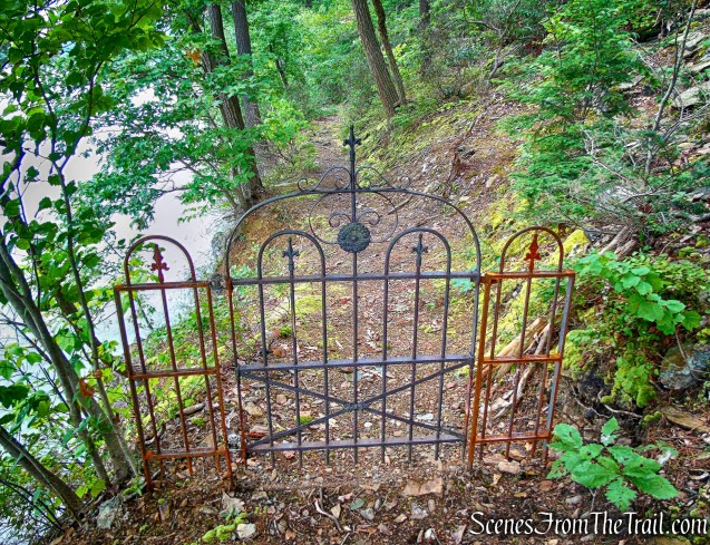 wrought iron gate - River Trail