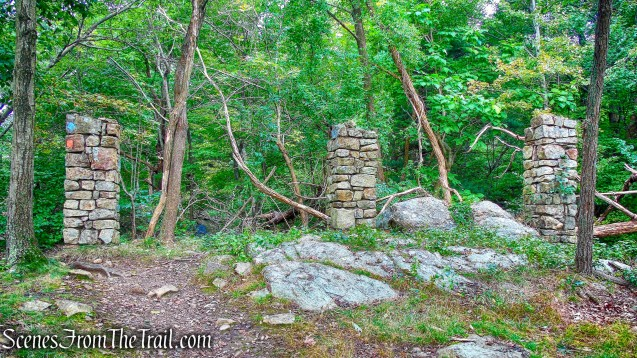stone pillars - Butter Hill Trail