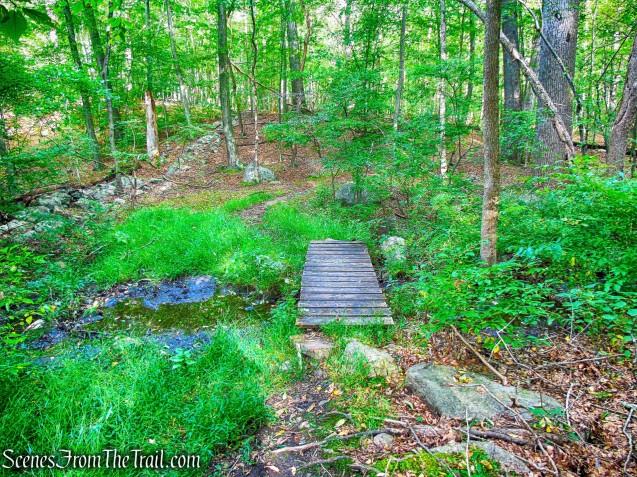 wooden bridge - Nelsonville Footpath