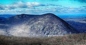 Butter Hill (left) and Storm King Mountain (right) as viewed from Bull Hill - December 3, 2016