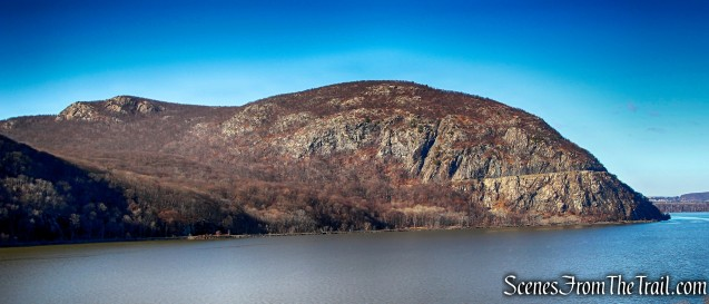 Butter Hill (left) and Storm King Mountain (right) as viewed from Little Stony Point - December 4, 2016