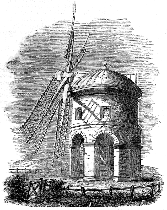 17th-century windmill near Chesterton, England