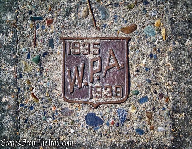 W.P.A. plaque