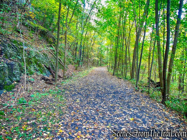 heading south on the Wallkill Valley Rail Trail