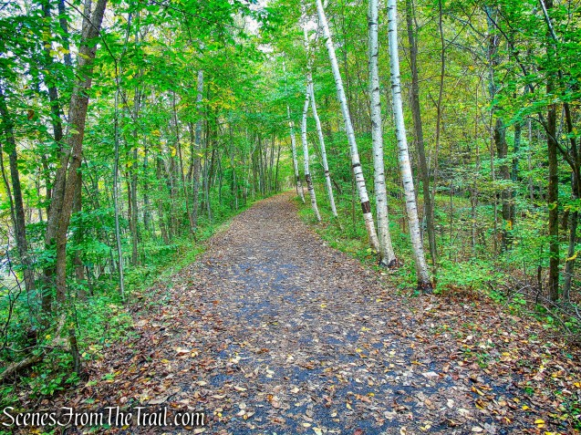 heading north on the Wallkill Valley Rail Trail