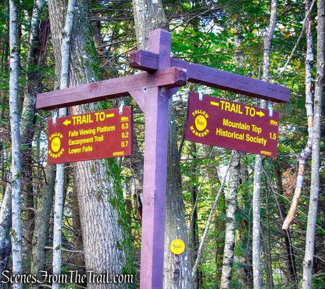 straight on Kaaterskill Falls Trail