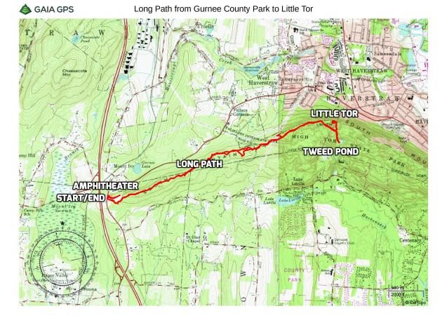 Long Path from Gurnee County Park to Little Tor