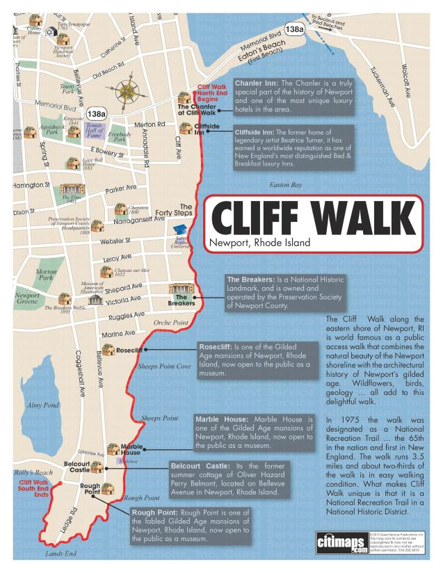 Newport Cliff Walk Map