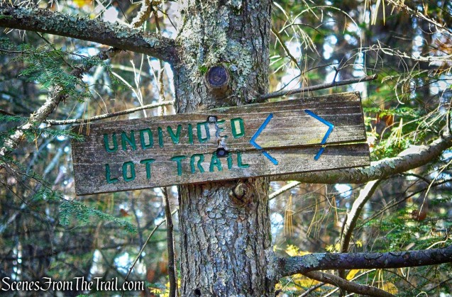 turn right on Undivided Lot Trail
