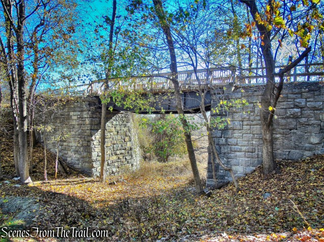 railroad bridge - Tarrytown Lakes Trail