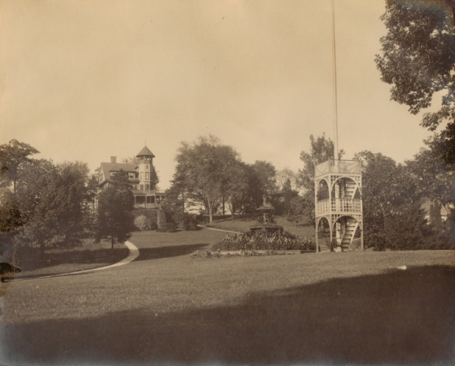 Fountain and Flag Pole - McAndrews Estate