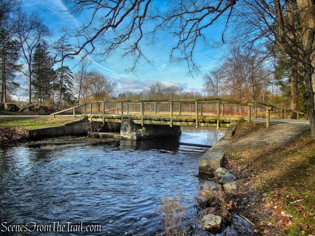 wooden bridge on Hyde Park Trail