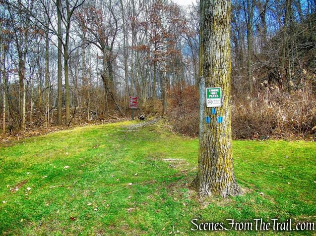 Start of Blue Trail