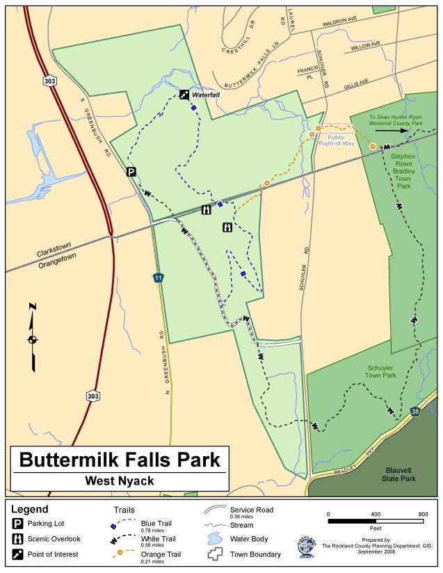 Buttermilk Falls County Park Map