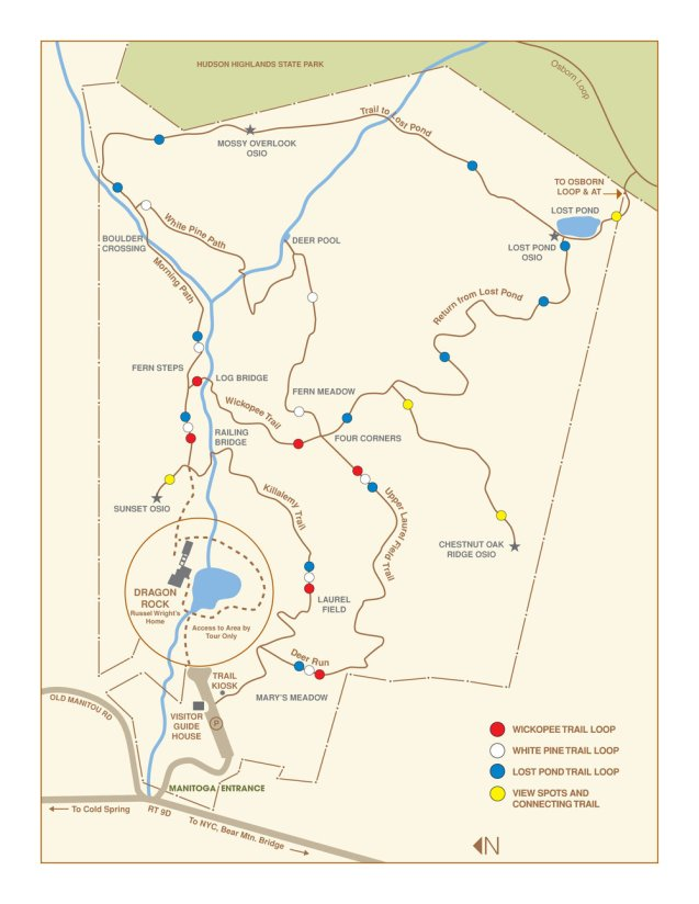 MANITOGA Trail Map