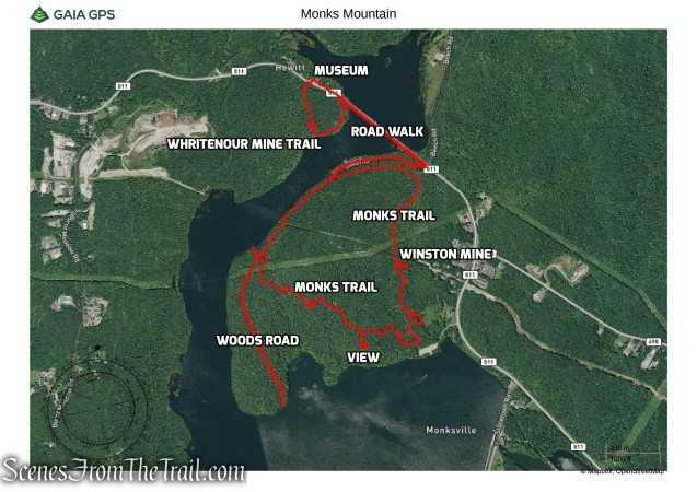 Monks Mountain Hike Route
