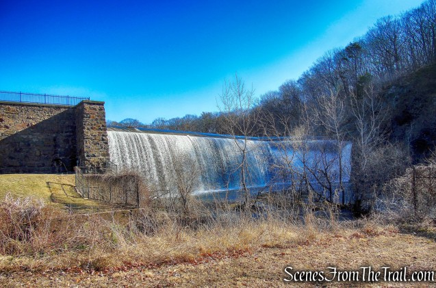 Lake Whitney dam and waterfall