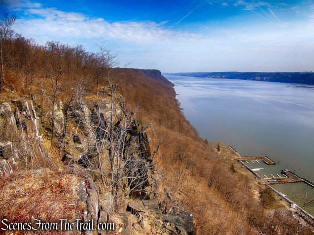 view north - Palisades cliffs
