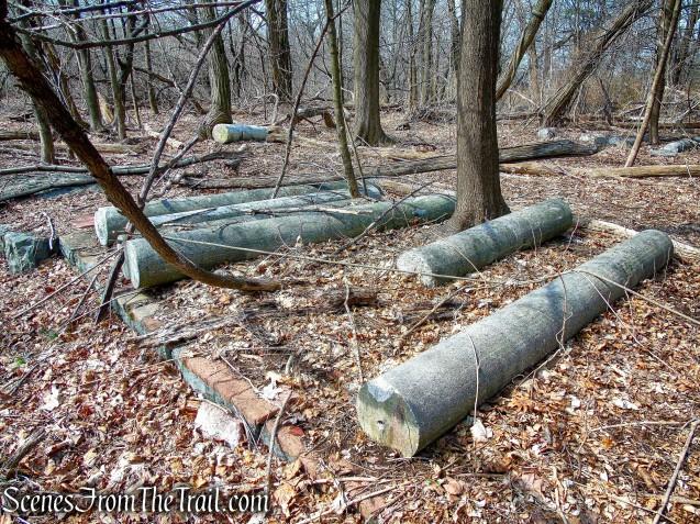 columns - Zabriskie Ruins - Cliff Dale