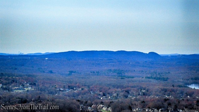 view south from Metacomet Trail - Hubbard Park