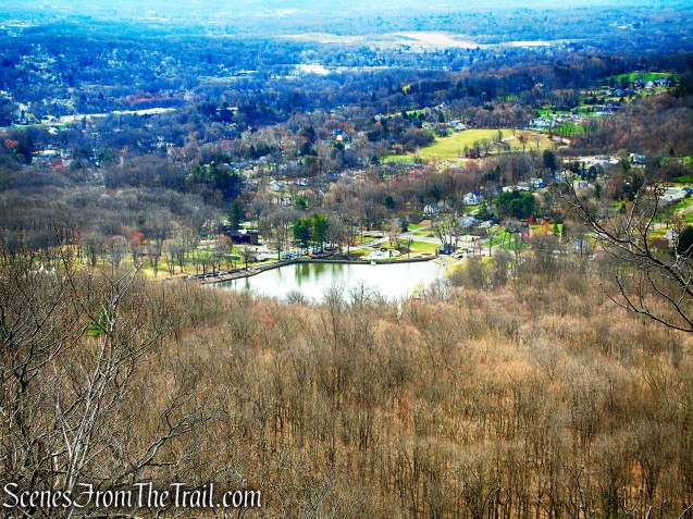 Mirror Lake as viewed from Metacomet Trail - Hubbard Park