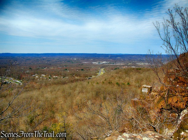 view southwest from Metacomet Trail - Hubbard Park