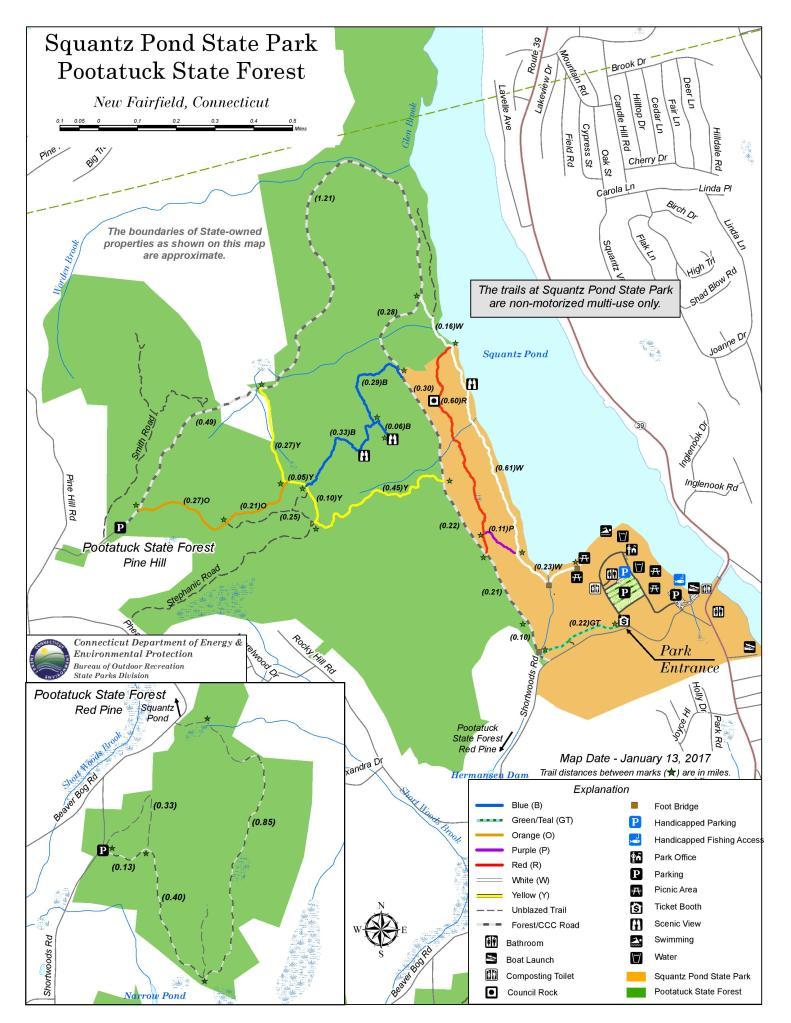 Squantz Pond State Park trail map